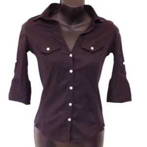 Max Studio Tops - *3 For $25* Max Studio Fitted Cotton Shirt- Sz. XS